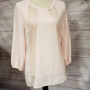 Blush Lace High Low Top